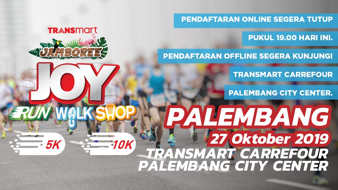 Transmart Palembang Joy Run Walk Shop 2019