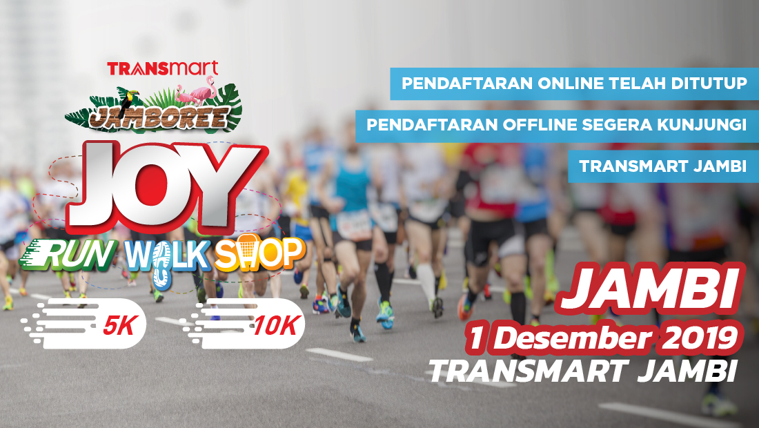 Transmart Jambi Joy Run Walk Shop 2019