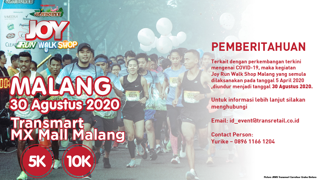 Transmart Mx Malang Joy Run Walk Shop 2020